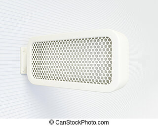 banner - white banner on a white background isolated