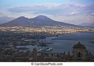 naples - view of the bay of naples, Italy
