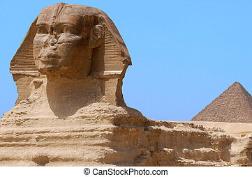 The Great Sphinx of Giza, Egypt - The Great Sphinx and...