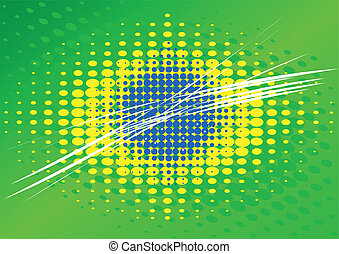 Brazilian flag abstract illustration