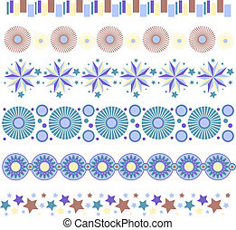 Colorful vector trim collection