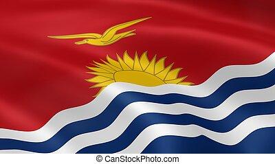 I-Kiribati flag in the wind