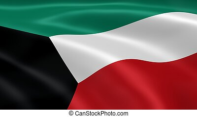 Kuwaiti flag in the wind