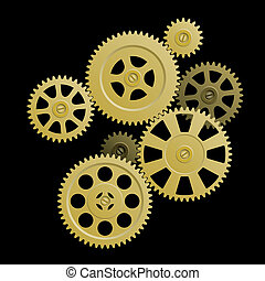 System of gears - Vector illustration - the connection of...