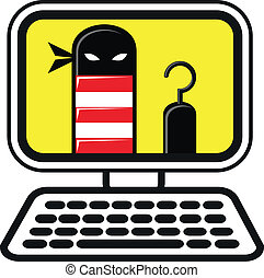 cyber crime - illustration of cyber crime