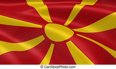 Macedonian flag in the wind
