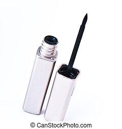 eyeliner - open eyeliner on white background