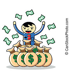 earning - illustration of earning money
