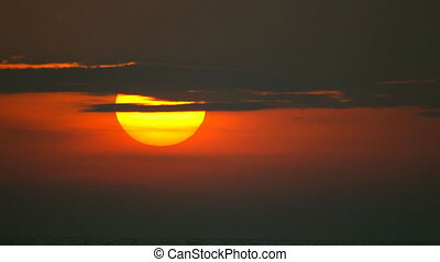 Long shot of sunset. - Tropical sunset. Phuket, Thailand....
