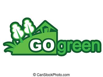 go green - illustration of go green