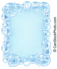 Bubbles frame bath fresh - Bubbles frame and transparent...