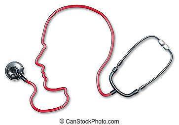 umano, cervello, salute