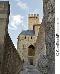 Carcassonne, France, UNESCO. Castle - Castle of Carcassonne,...