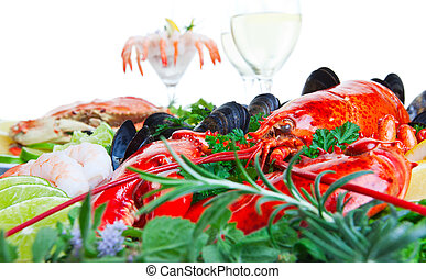 Lobster and seafood
