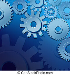 Business teamwork and industry concept with gears and cogs...