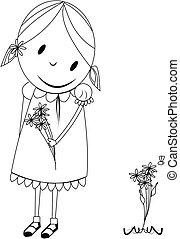 lil girl in springtime