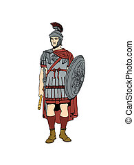 Roman soldier. - The 1st century Roman soldier in armour.