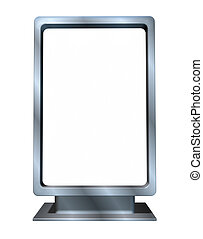 Marketing and advertising Blank vertical billboard