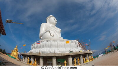 Big Buddha. - Temple of a Big Buddha, Phuket, Thailand....