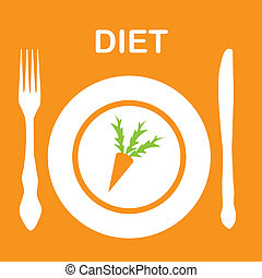 diet icon. vector illustration