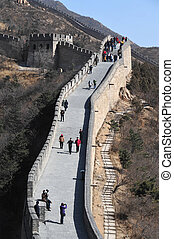 Great Wall of China - Chinese and foreign visitors are...