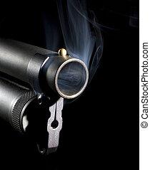 Fumar, arma de fuego