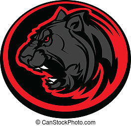 Panther Mascot Head Vector Graphic - Graphic Mascot Vector...