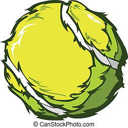 Tennis Ball Vector Image Template - Tennis Ball Template...