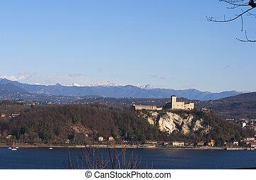 Rocca di Angera - Rocca d'Angera, castle on Lago Maggiore,...