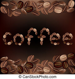 The coffee beans Illustration in vector format EPS