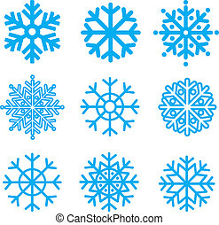 Snowflakes collection. Element for design. Vector...