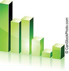 3d green diagram.