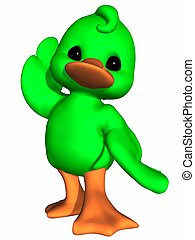 Cute Duck - Toon Figure - 3d render of a cute duck - toon...