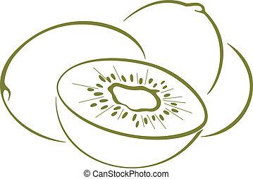 Kiwi fruit, pictogram
