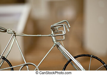 Bicycle toy - Iron Bicycle toy on table