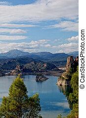 Spain, Fuensanta reservoir - Spain, lake in the mountains,...
