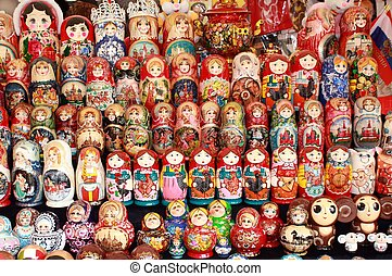 Matryoshka - Colourful dolls can be purchased in tourist...