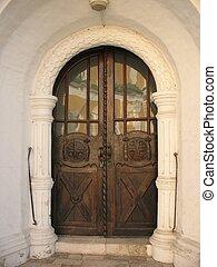 Wooden door - Door Auxiliary input into the...