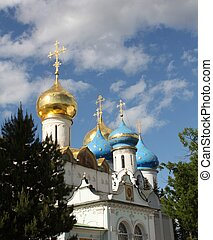 Domes of the Holy Trinity Sergius Lavra