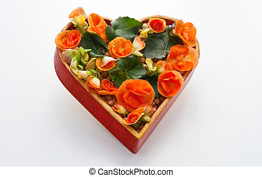Heart flowers - A lot of flowers inside a heart