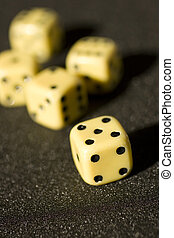 Craps on a anthracite background