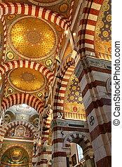 Notre-Dame de la Garde basilica in Marseille, France