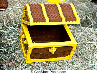 Chest maked with plastic toy bricks - A Chest maked with...