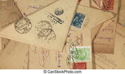 Old envelops full frame background
