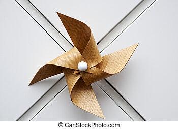 madeira, moinho de vento, brinquedo