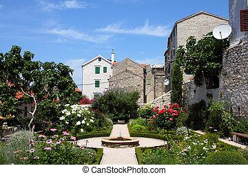 Sibenik, Croatia - Croatia - Sibenik in Dalmatia. Old town...