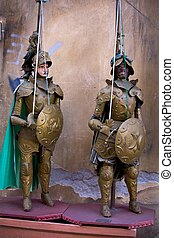 Traditional Sicilian puppets - View of traditional Sicilian...