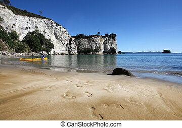 New Zealand - Stingray Bay at Coromandel peninsula. New...