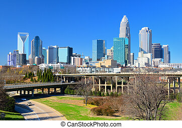 Skyline of Uptown Charlotte, North Carolina