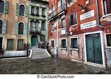 Venice - Beautiful Venetian architecture Old landmarks in...